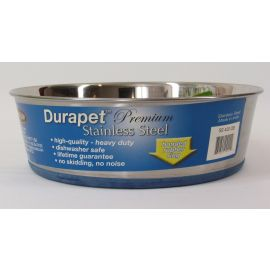 DuraPet Premium Stainless Steel Dog Dish  4-1/2 Quart