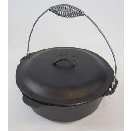 Lodge Logic Cast Iron 9 Qt Dutch Oven w/Lid & Bail Handle