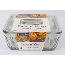Anchor Hocking Bake N' Store Dish w/lid 12 Cup