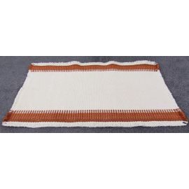 Berea College Crafts Norwegian Weave Placemat, Natural/Brown, Natural Cotton