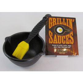 Lodge Logic Cast Iron Sauce Kit w/Basting Brush & Recipes