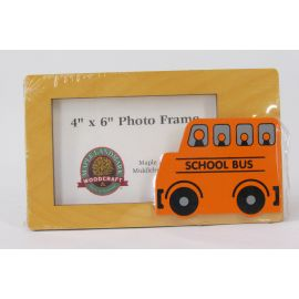 Maple Landmark Photo Frame – School Bus
