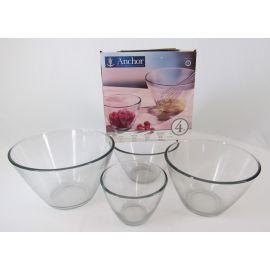 Anchor Hocking Glass Mixing Bowls, set of 4