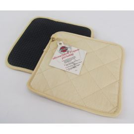 Norpro Potholder Grooved Silicone w/ Quilted Cotton Fabric Backing