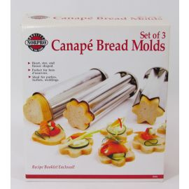Norpro Canape' Bread Molds, Set of 3