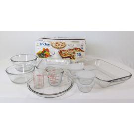 Anchor Hocking 15-pc Tempered Glass Baking Set