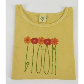 "Earth Creations T-Shirt Scoop Neck ""Bloom"", Citrine"