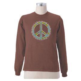 "Earth Creations Long Sleeve T-Shirt ""Peace World"""