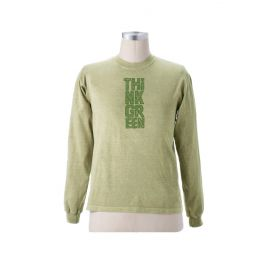 "Earth Creations Long Sleeve T ""Think Green"", Jade"