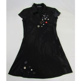 Upcycled Dress by Le Marché Noir, Black, Small