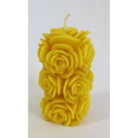 Little Bees Rose Pillar Candle