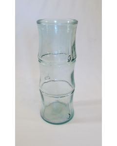 """11-3/4"""" 100% recycled Tall Glass Vase-Bamboo Design"""