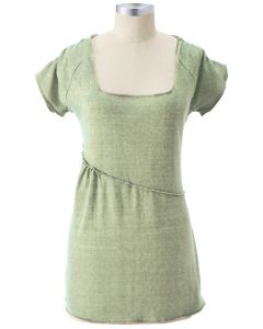 Earth Creations Penelope Top, 55% Hemp 45% Organic Cotton, Clay Dyed