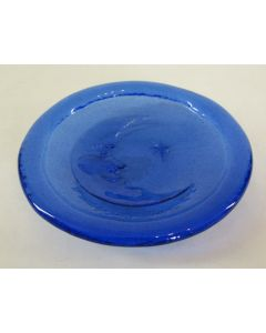 Aurora Glass Moon Bowl-Cobalt Blue