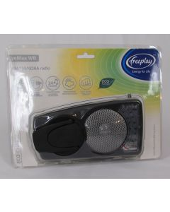freeplay Eyemax Portable Radio AM/FM w/Weatherband, Black, AC, Windup or Solar Charge