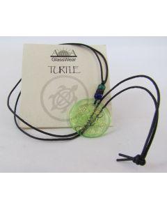 Aurora GlassWear Pendant Necklace-Turtle-Lime
