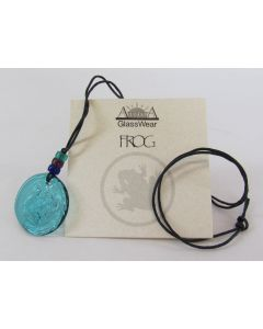 Aurora GlassWear Pendant Necklace-Frog-Teal