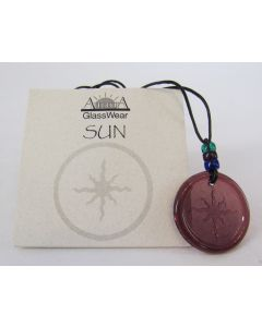 Aurora GlassWear Pendant Necklace-Sun-Amethyst