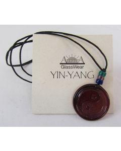 Aurora GlassWear Pendant Necklace-Yin Yang-Amethyst