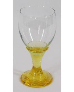 Fire & Light Recycled Glass Goblet, 12 oz-Citrus