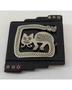 Michael Baehr Jewelry Brooch/Pendant-Cat