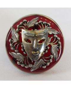 Michael Baehr Jewelry Brooch-Mask