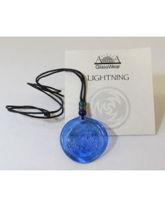 Aurora GlassWear Pendant Necklace-Lightning-Cobalt
