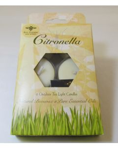 Big Dipper Citronella Outdoor Tea Light Candles, Box of 6