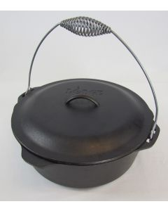 Lodge Logic Cast Iron 9 Qt Dutch Oven w/Lid & Bail Handle