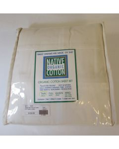 Native Organic 3 Pc Sheet Set, Natural
