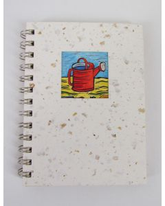 Green Field Cafe Journal, Watering Can Image, 140 Pages