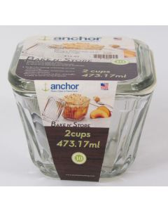 Anchor Hocking Bake N' Store Dish w/lid 2 Cup