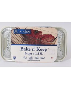 Anchor Hocking Bake N' Store Dish w/lid 5 Cup