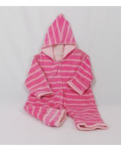 Under the Nile Warm Suit – Pink Striped, nb-3 mo