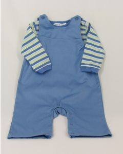 Under the Nile 2-pc Overall w/Twill Stripe Shirt, nb-3 mo