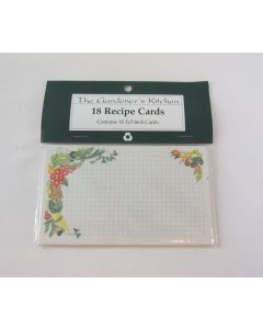 Recipe Cards 18 pack, 3x5, Recycled Card Stock, Veggie Design