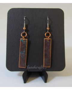 Precious Hardwood Earrings w/Patina on Copper