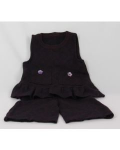 Madrone Berries 2-pc Top and Culottes, purple, 6 Months