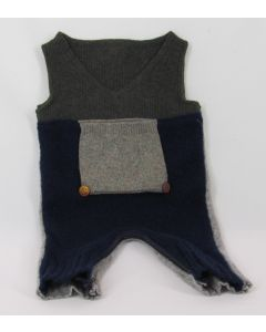Madrone Berries 1-pc Jumper, Navy, Gray & Dark Olive, 3 Months
