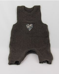 Madrone Berries 1-pc Jumper Lt Brown Wool Knit, Heart, 18 Months