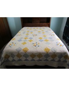 Quilt Annabelle Blue, Queen/King