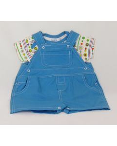 Under the Nile 2-pc Short Overall w/t-Shirt, 3-6 Months