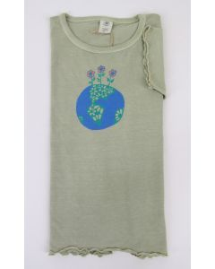 "Earth Creations Girly, Youth, Short Sleeve Organic Cotton T-""Eco Sprouts""- Moss"