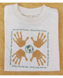 "Earth Creations Youth, Short Sleeve 100% Undyed Organic Cotton T-""We Are The Future"""