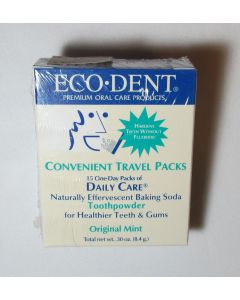 Eco-DenT Tooth Powder, Travel Packs, Original Mint Flavor