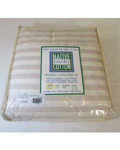 Native Organic 3 Pc Sheet Set, Natural/Natural Cafe