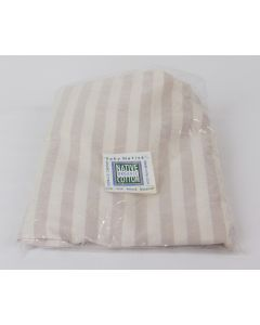Native Organic – Bassinet Sheet, Fitted, Natural/Natural Cafe Striped