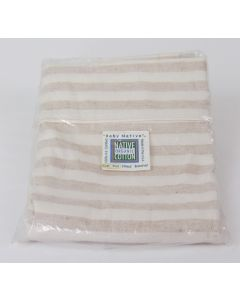 Native Organic – Crib Sheet, Flat, cafe/Natural Striped