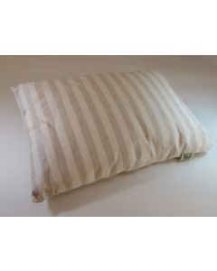 Native Organic Travel Pillow, Natural Cream/Natural Cafe Striped