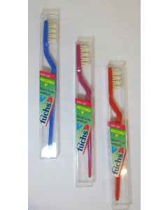 Fuchs Record V Natural Bristle Adult Toothbrush in Travel Case, Soft